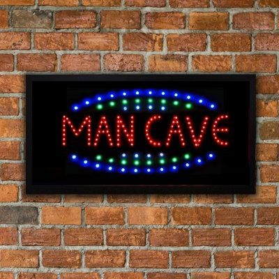 CYRG Framed Man Cave LED Marquee Sign