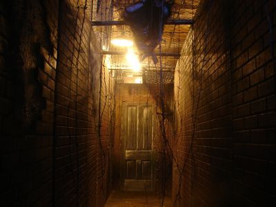 The smalls mansions and hallways on pinterest for Haunted house hallway ideas