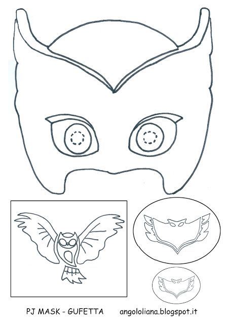Mascara Pj Masks Guffeta Feltro Moldesdefeltro Feltrofacil