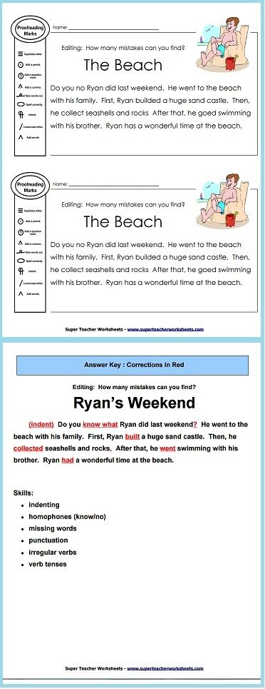 Printables Editing Practice Worksheets teaching worksheets and grammar on pinterest practice proofreading skills with this editing worksheet more from super teacher