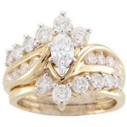 You've created a monster adding me to this board!  14k Yellow Gold 2ct TDW Diamond Bridal Ring Set (H-I, I1-I2)