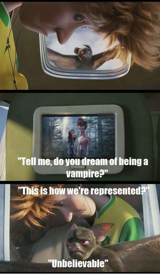Hotel Transylvania- funniest animated film I've watched in a while. Loved the Twilight vampire joke