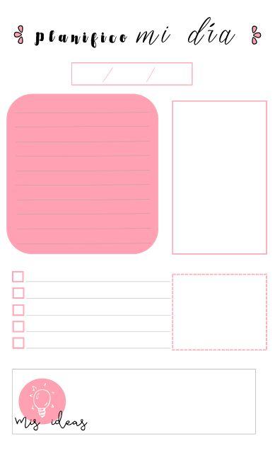 ... pdf, descargar, gratis, imprimibles, printables, planning, diario