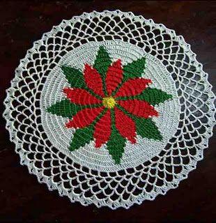 Poinsettia Doily: