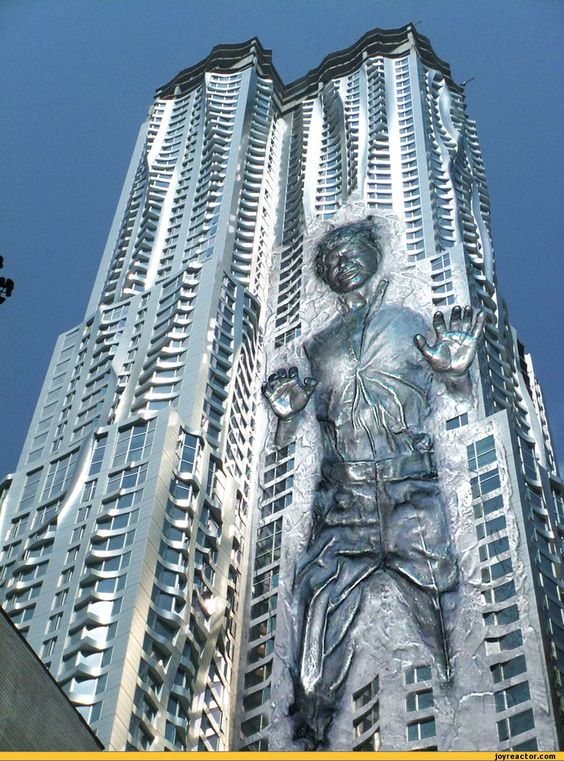 Frank Gehry,carbonite tower,photo