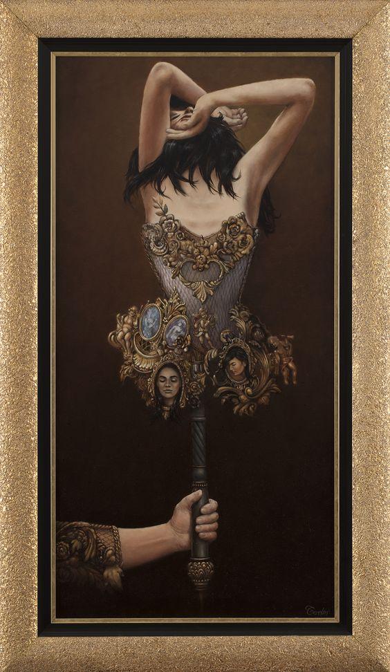 Carlos de La Rosa, Terra,,oil on painting,120x60 cm