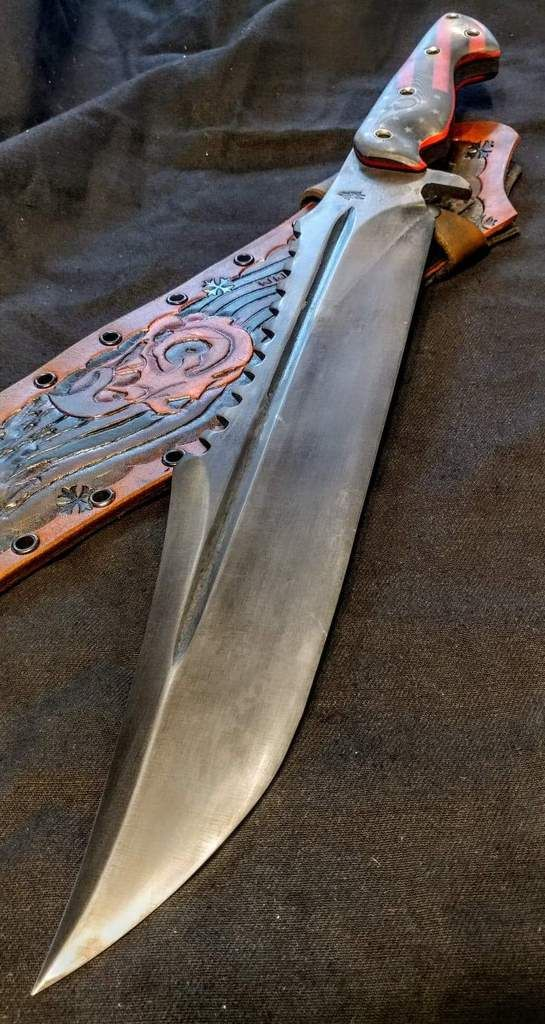 Valavian Edge Craft Feedom Fighter Bowie 5160 High Carbon With Old