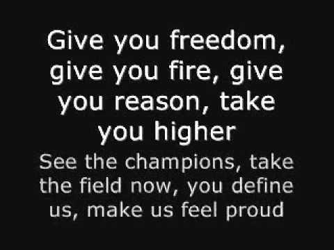 Wavin Flag With Song Lyrics Youtube Song Lyrics Songs Lyrics