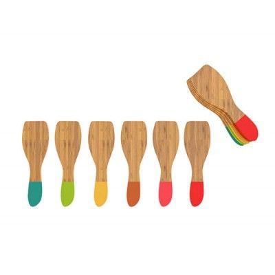 Set de 6 spatules à raclette multicolores - Alice Délice