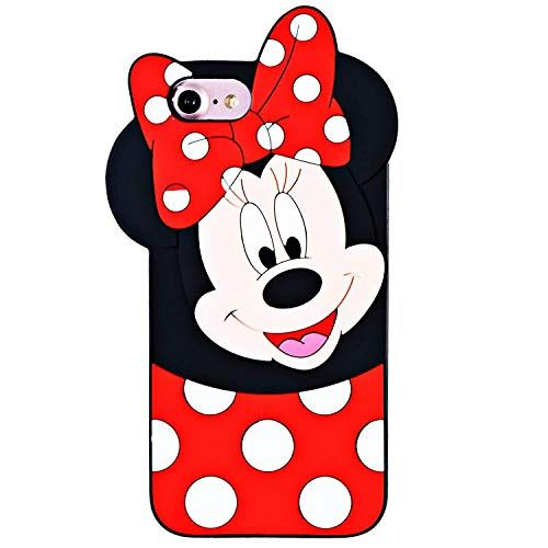 Leosimp Minnie Coque pour iPhone Caoutchouc Silicone iPhone 8/7/6 ...