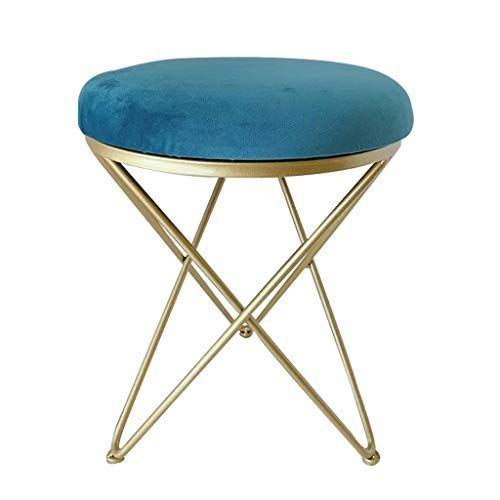 Lslmcs Footstool Barstools Leisure Chair Creative Stool Metal Legs 100 Cotton Cover Round Stool Yoga Chair Cushion Round Stool Leisure Chair Chair Cushions