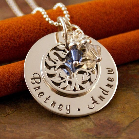 Personalized Mommy Necklace  Hand Stamped by IntentionallyMe, $65.00