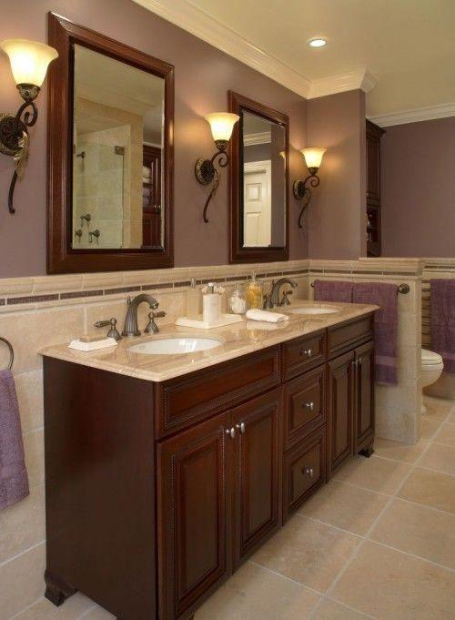 Pink And Brown Bathroom Decor Brownbathroomsetwithshowercurtain