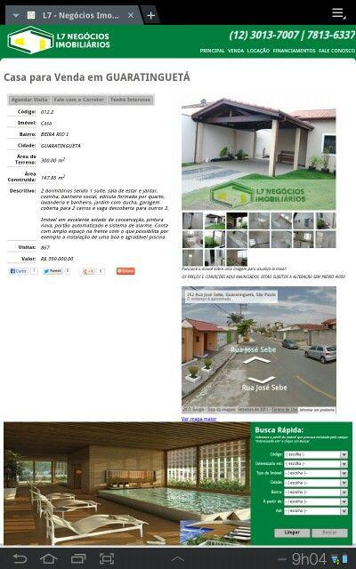 Excelente imóvel para venda  em Guaratinguetá (Beira Rio 1)  (12) 3013-7007 www.L7NEGOCIOSIMOBILIARIOS.com  http://www.l7negociosimobiliarios.com/?imovel=225