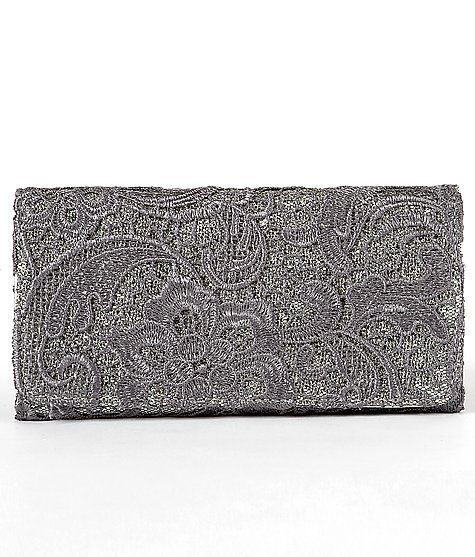 Lace Overlay Glitter Wallet. Mom this is what i want for christmas!