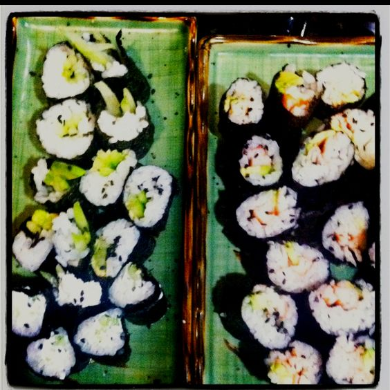 Homemade maki--California and cucumber