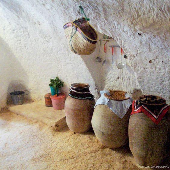 que ver en tunez :casa troglodita interior: