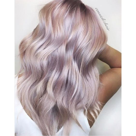 Iridescent Rose - Behindthechair.com Haircolor formulations for metallic pink rose hair with Kenra Professional @cassiskovic