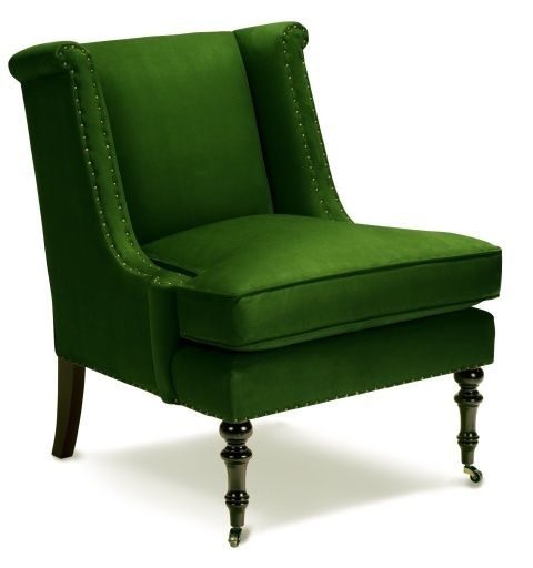 lee joffa emerald green chair | fav. color!! i want to be seen in