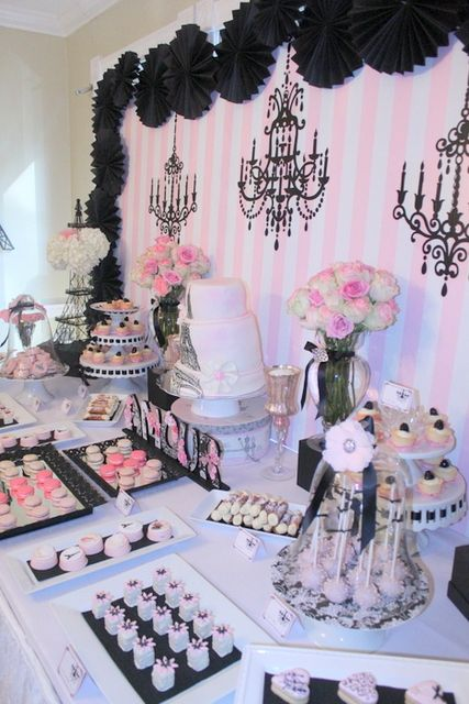 Vintage Parisian Bridal/Wedding Shower Party Ideas   Photo 1 of 26   Catch My Party