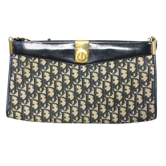 In your clutches. 1stdibs   Christian Dior Monogram Handbag & Change Purse