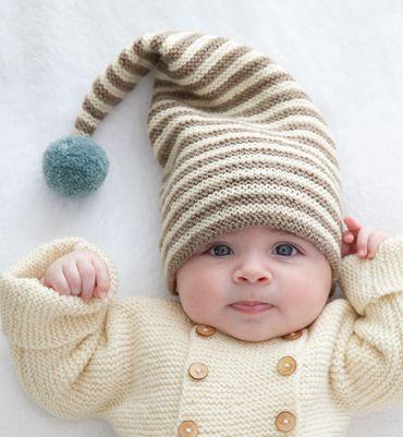 Modèle bonnet pompon