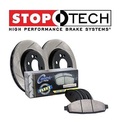 For Ford F-150 Front StopTech Drilled Slotted Brake Rotors+Pads Kit 970.65015