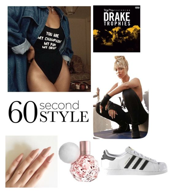 """""""I sneezed on the beat and the beat got sicker """" by slaayla ❤ liked on Polyvore featuring adidas, DRAKE, views and 60secondstyle"""