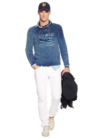 Tonal-Flag Crewneck Sweater - Polo Ralph Lauren Polo Ralph Lauren - RalphLauren.com