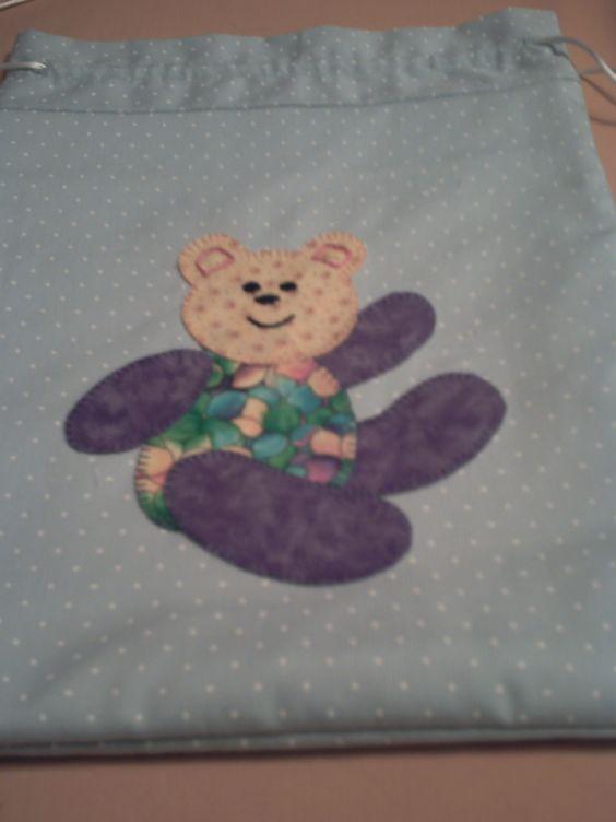 Bolsa merienda con oso