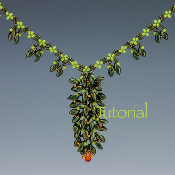 Seed Bead and Magatama Necklace Tutorial Blooming by JewelryTales, $5.00