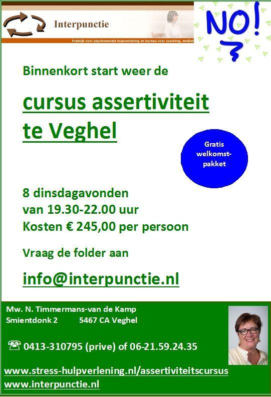 affiche cursus assertiviteit Veghel  2013