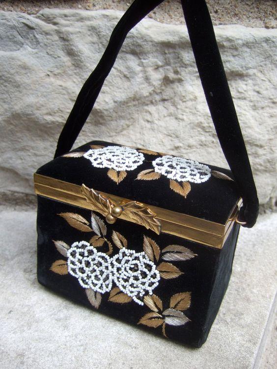 Opulent Black Velvet Beaded & Embroidered by worldmarketproductio
