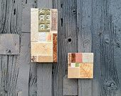 Outdoor Ceramic Garden Art Tile Mosaic Collage in Neutrals...Ready to Ship