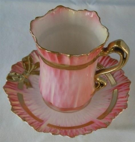 Tea Cup and Saucer ~ Pink and Gold