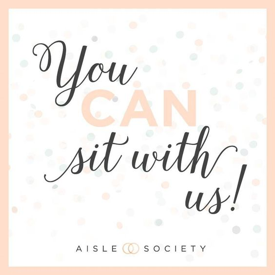 In honor of #meangirls day over the weekend... I'm so thrilled to be a part of this awesome #girlgang that is @AisleSociety!! And yes you CAN sit with us and trust me you'll want to!! wink I'm sharing a little more about what Aisle Society is all about on the blog today so don't miss it! #AisleSociety #aislesocietyblogger #aislesocietydebut #weddinginspiration #weddingbloggers #weddingblogsunite