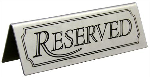 New Star 26900 Stainless Steel Reserved Table Sign, 4.75 By 1.5-Inch, Set Of 6, 2015 Amazon Top Rated Serveware Accessories #Kitchen