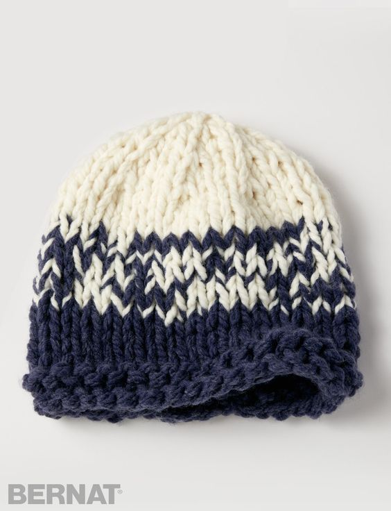 Bernat Free Knit Baby Hat Patterns Bernat Big Stitch Baby Hat Knit