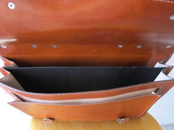 Backpack cowhide leather satchel Handmade to order by goldenponies