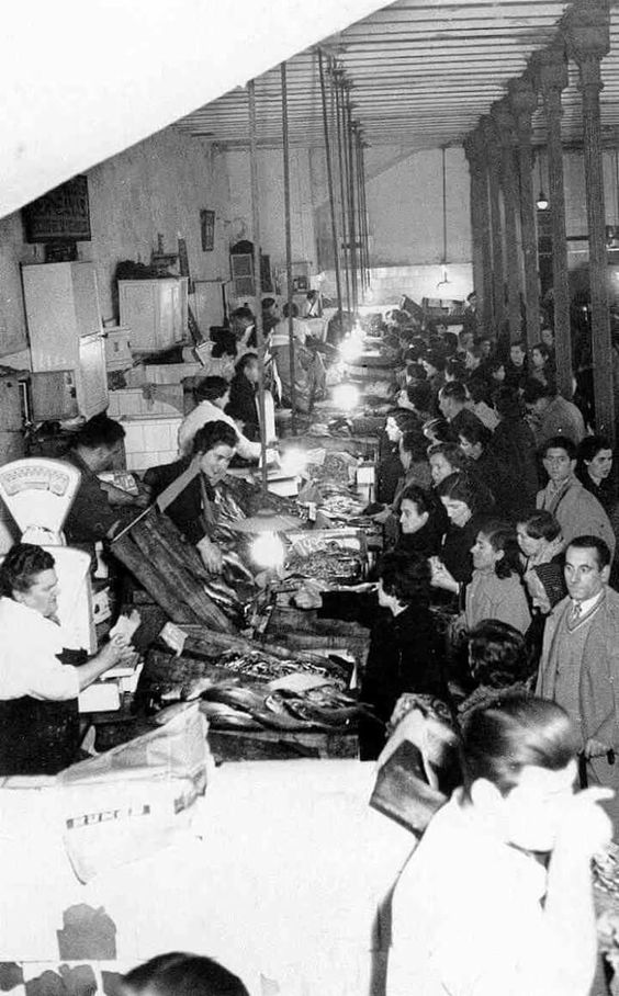 Mercado de Santo Domingo. 1955. Pamplona.