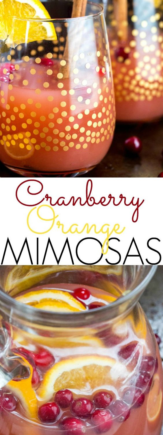 Quick, easy and delicious these Cranberry Orange Mimosas are the perfect drink for your next party, get together or just because!