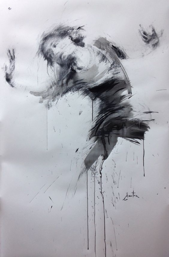 ewa hauton 148x93cm encre sur papier #dancer #ink #painting #drawing #charcoal