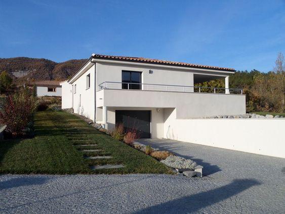 maison-demi-niveaux-terrain-en-pente-2jpg (1010×568) dos pisos - plan maison terrain pente