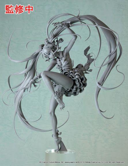 Vocaloid - 1/7 - Hatsune Miku - illustrated by mebae - Max Factory (?) - Statuen / PVC - Figuren - Japanshrine | Anima Manga Comic PVC Figur Statue
