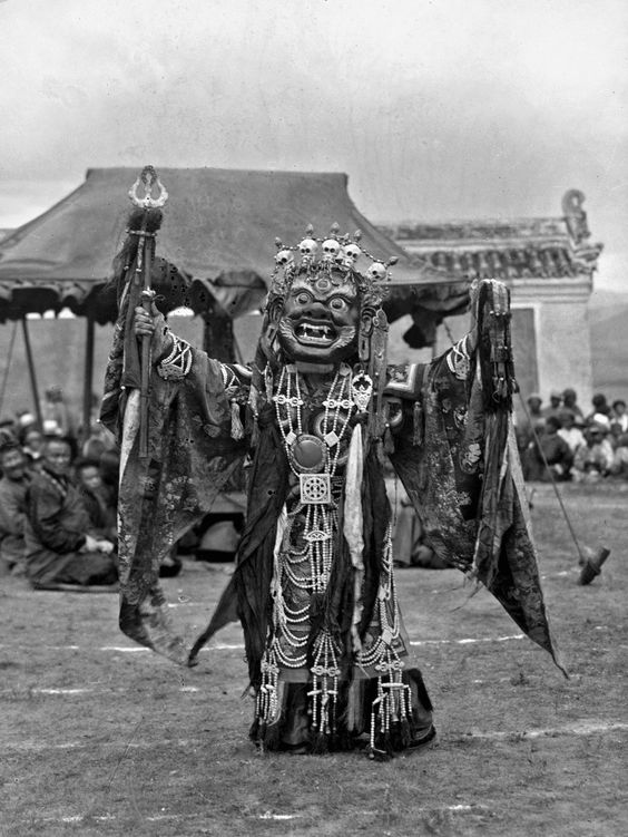 Stunning 1920's images of a Tsam Dance at Ulaanbaatar, Mongolia