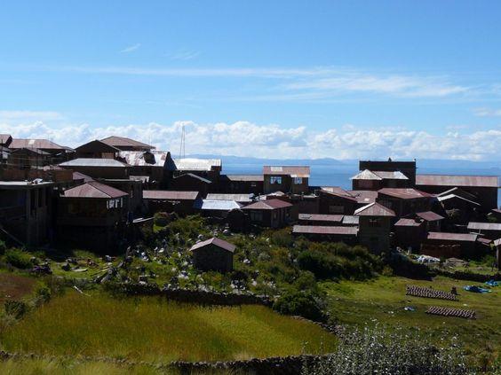 Village ile taquile lac titicaca