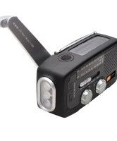 If you have ever been left without power, you'll wished you had the Self-powered Radio Flashlight Charger.