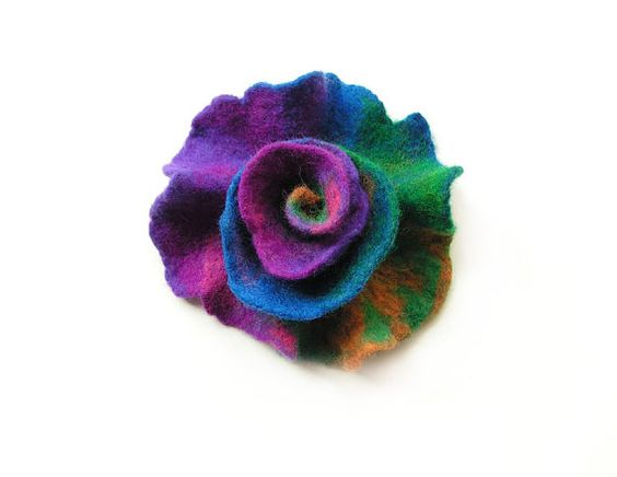 Hey, I found this really awesome Etsy listing at https://www.etsy.com/il-en/listing/245623988/felted-flower-brooch-felt-flower-brooch