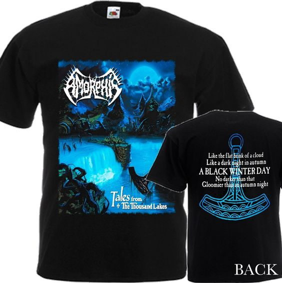 """NEW T-SHIRT """"AMORPHIS - TALES FROM THE THOUSAND LAKES"""" DTG PRINTED TEE- S- 6XL…"""