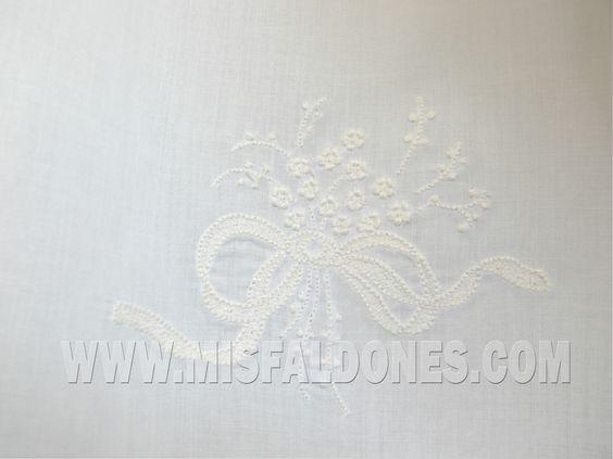 Detail - Christening dress (spanish name: Faldon, Faldellin)